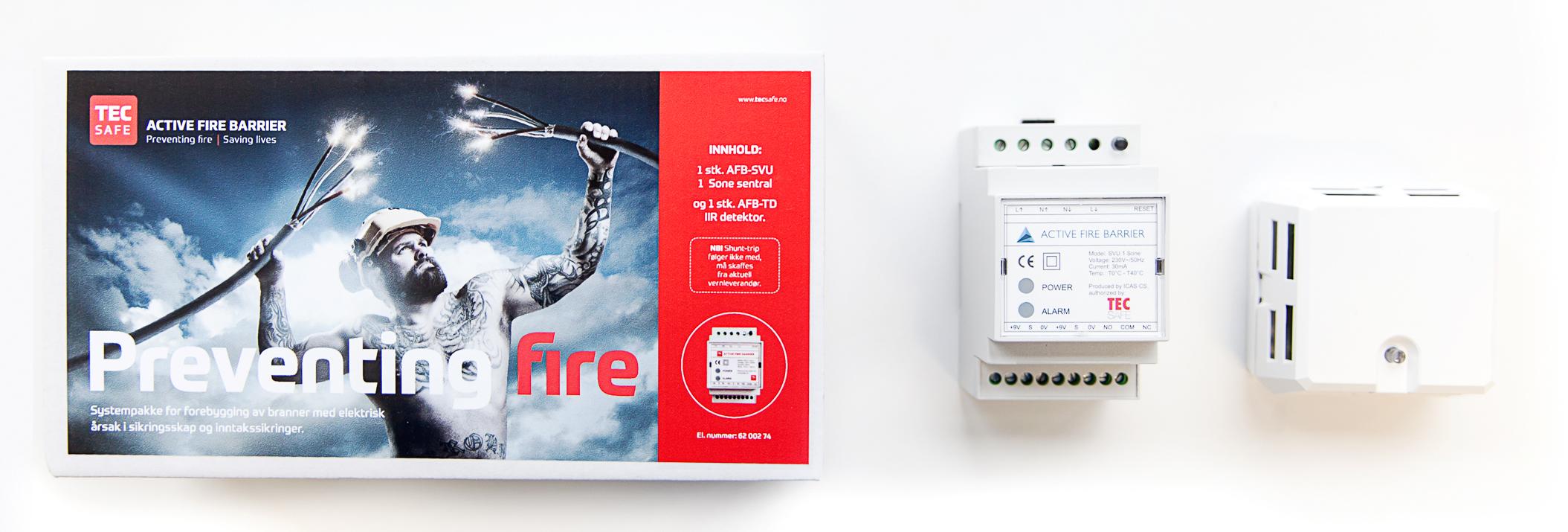Active Fire Barrier fra Fixel forhindrer brann i sikringsskapet